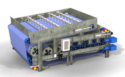 Ленточный промышленный фильтр-пресс (ФПП) ДАКТ-Инжиниринг